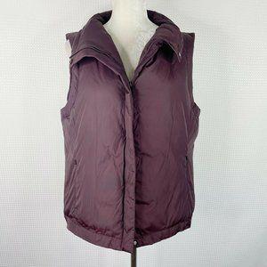 Eileen Fisher Down Vest Jacket Puffer Zip Large